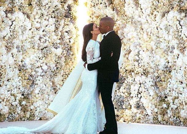 las primeras fotografías oficiales de kim kardashian y kanye west el