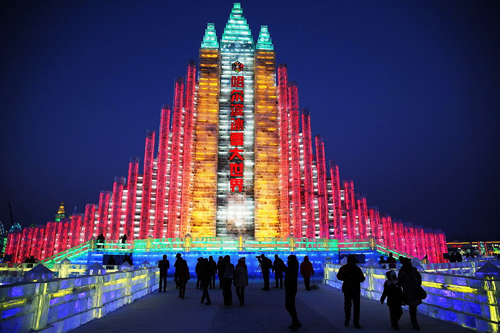 Una ciudad de hielo, luz y color en el 'Festival