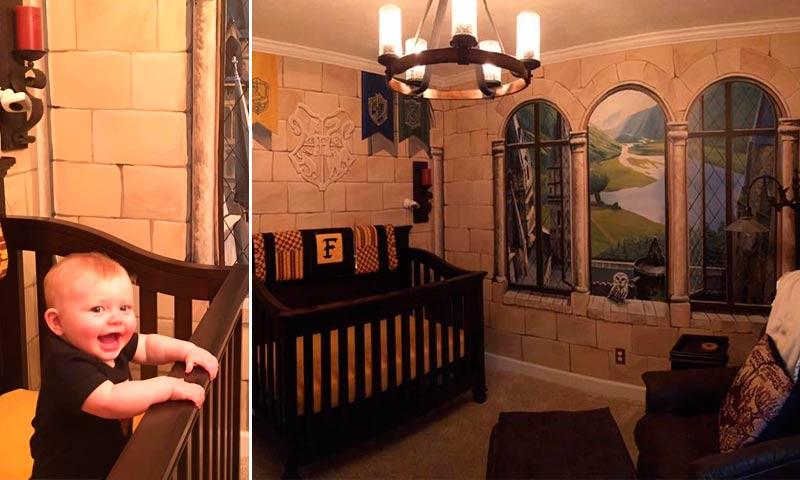 El m gico cuarto de este beb te har sentir en hogwarts for Harry potter cuartos decoracion