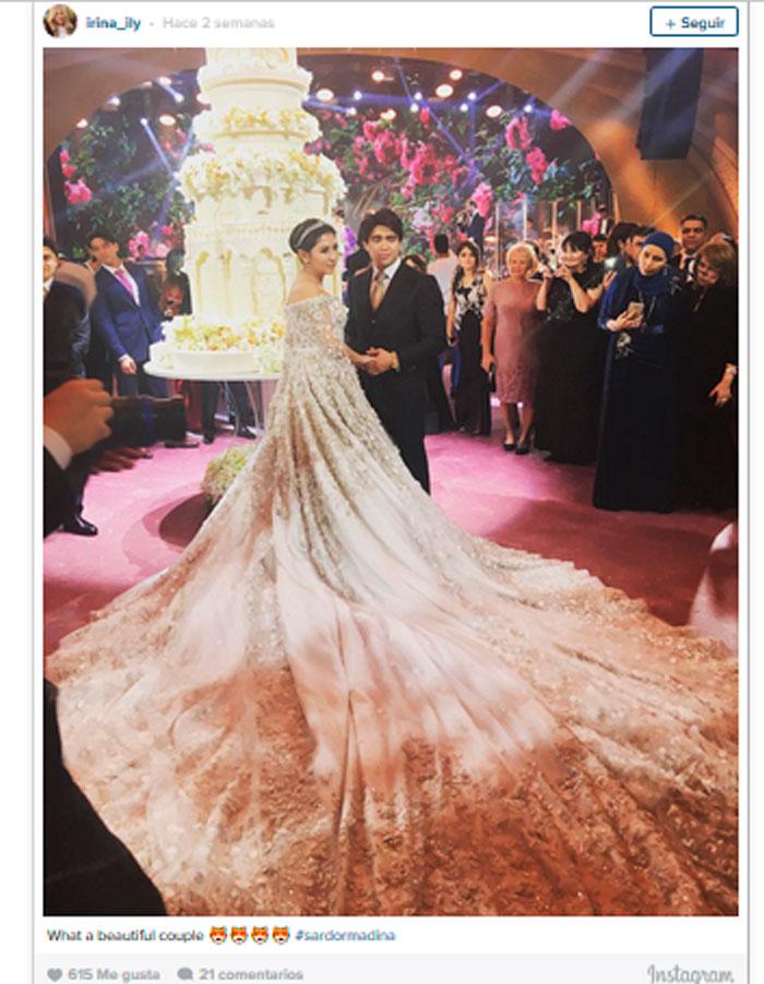 un vestido de novia de 13 millones de pesos, 900 invitados…la boda