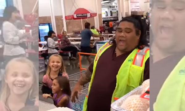 Tiernas niñas confunden a cajero de supermercado con Maui de Moana