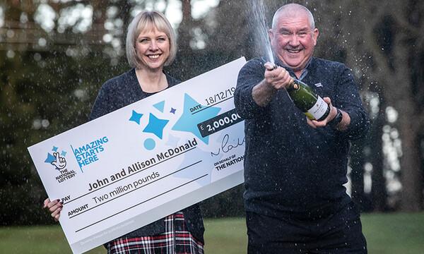 La pareja que ganó la lotería y recibió una noticia mejor