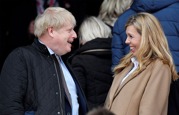 Boris Johnson y Carrie Symonds