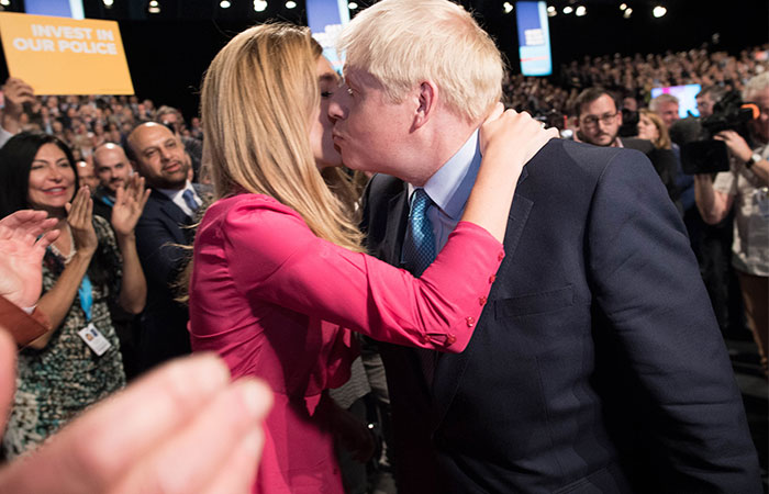 Carrie Symonds y Boris Johnson