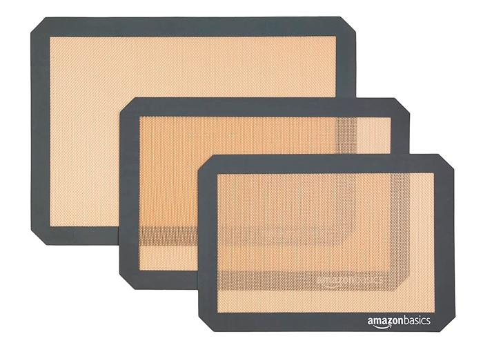 Tapetes de silicón para hornear de AmazonBasics