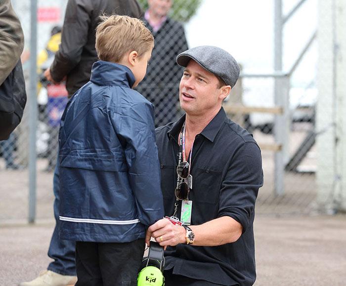Brad Pitt with his son Knox