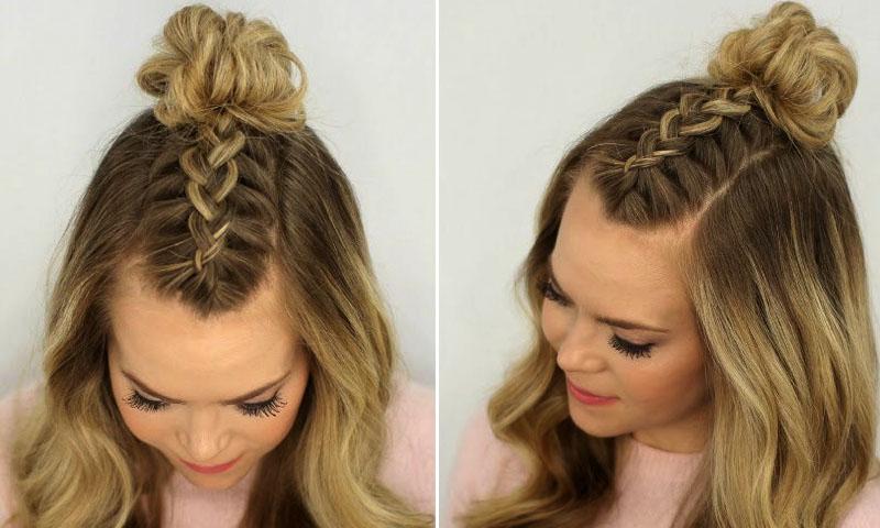 Braided top knots la tendencia de peinados ideal para - Peinados y trenzas ...