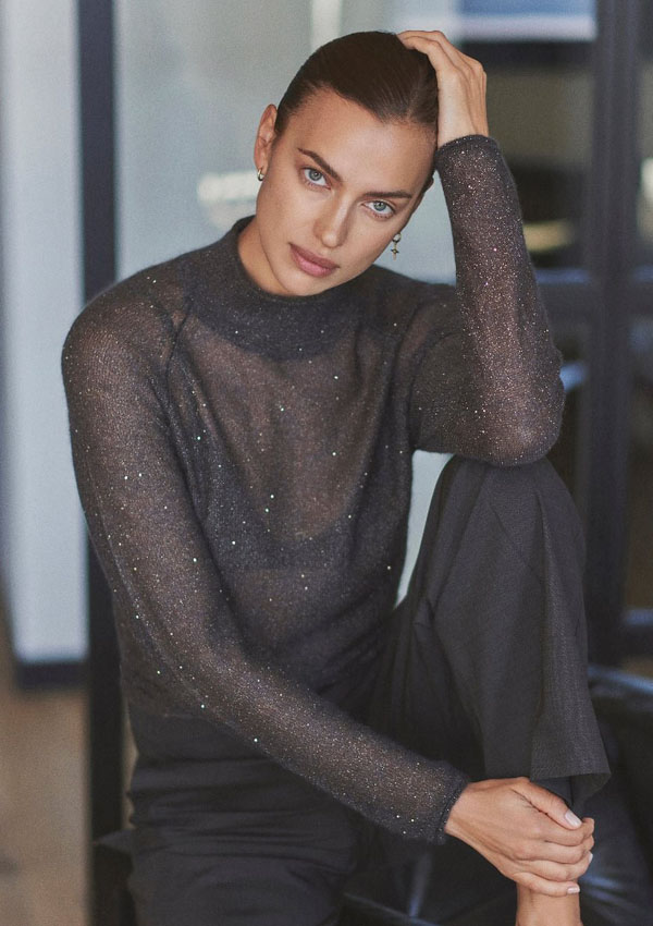 Irina Shayk estrena la manicura francesa bicolor para uñas