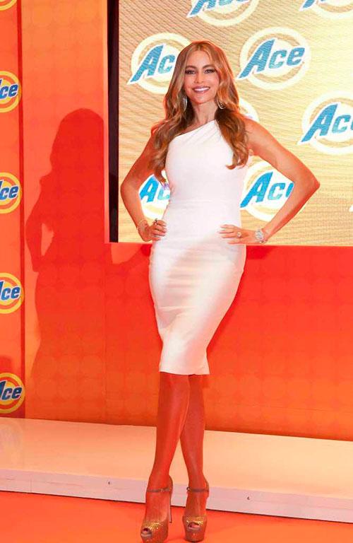 Sofía Vergara deslumbra en México con su sonrisa y con sus curvas