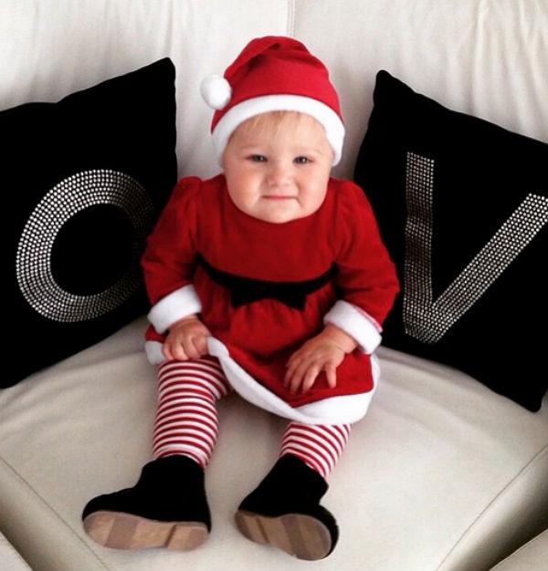 Santa claus duende y reno los tiernos disfraces de alexa - Disfraces navidenos para bebes ...