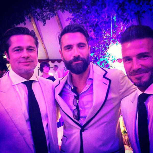 David Beckham y Brad Pitt, invitados de honor en la boda de Guy Ritchie, el ex esposo de Madonna