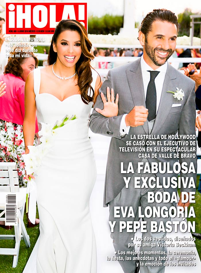 En ¡HOLA!  Los vestidos de novia de Eva Longoria por Victoria Beckham ede9a2610db2
