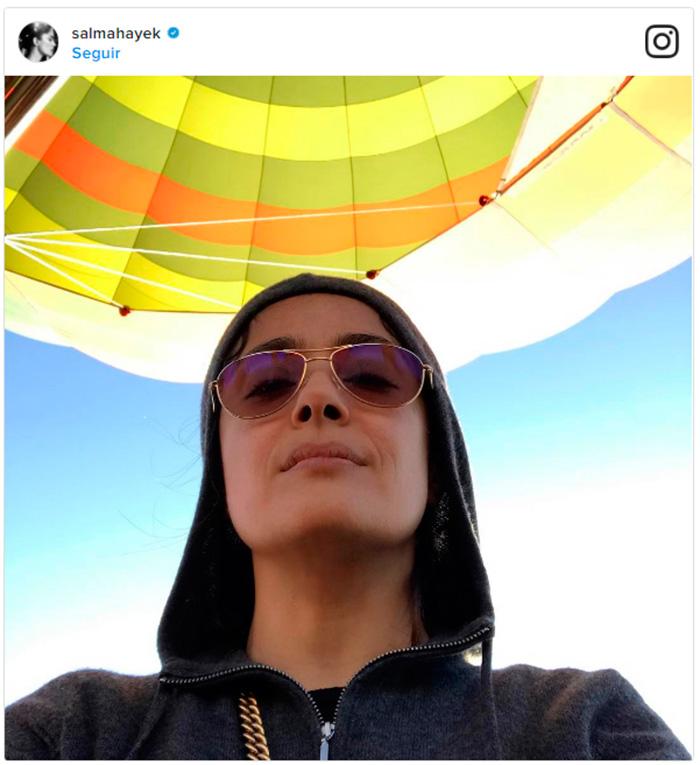 ¡Salma Hayek, en las nubes por su hija Valentina!
