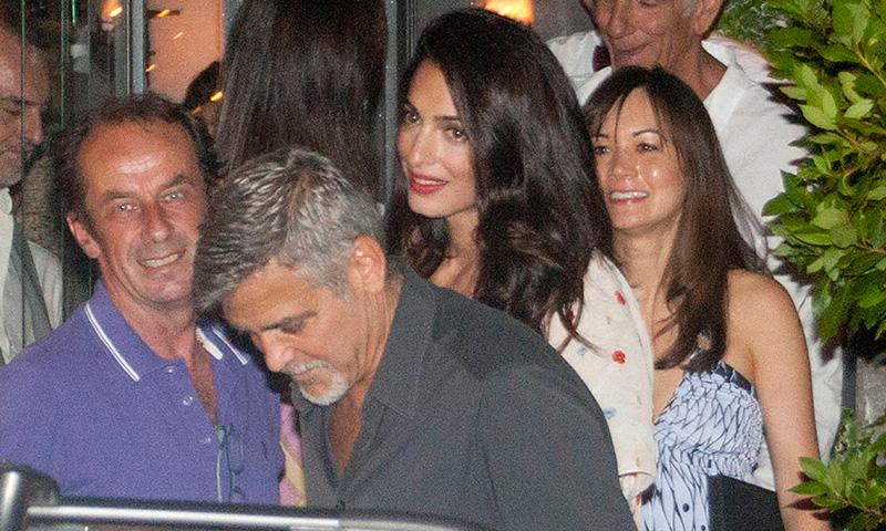 George y Amal Clooney en su primera salida de enamorados desde que ...