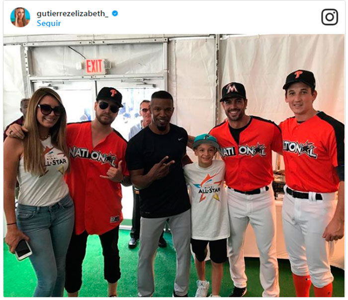 '¡Home run de amor!' Elizabeth Gutiérrez y William Levy, orgullosos de su jugador estrella