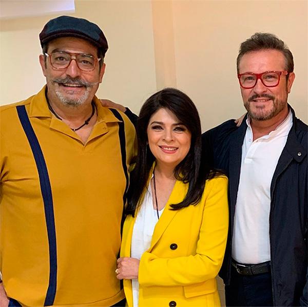Victoria Ruffo, Omar Fierro y Arturo Peniche