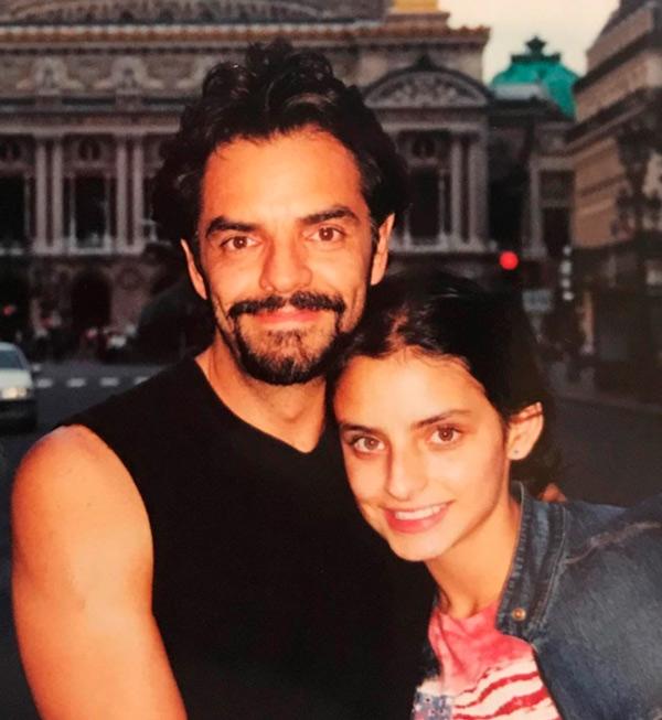 Eugenio Derbez y Aislinn Derbez foto del pasado