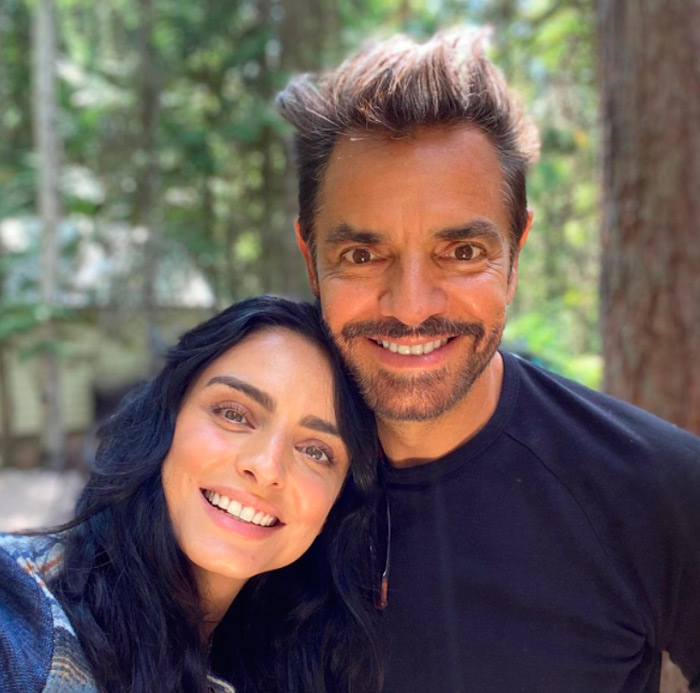 Aislinn Derbez y Eugenio Derbez