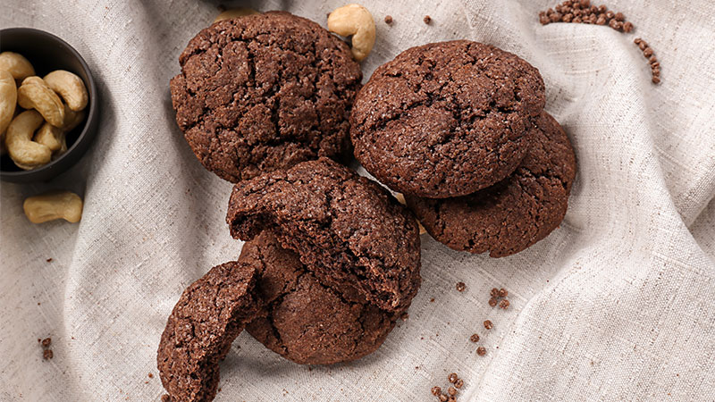 'Cookies' de chocolate y anacardos