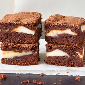 'Brownie' de mascarpone y café