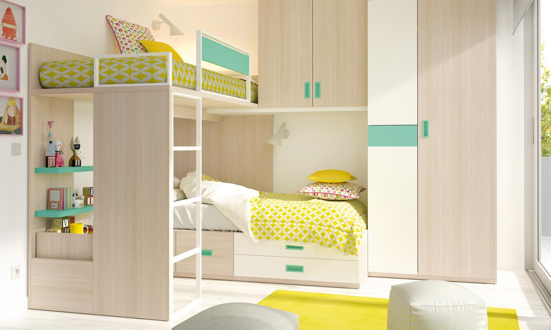 Dormitorios infantiles ideas para una buena distribuci n - Ideas dormitorios infantiles ...