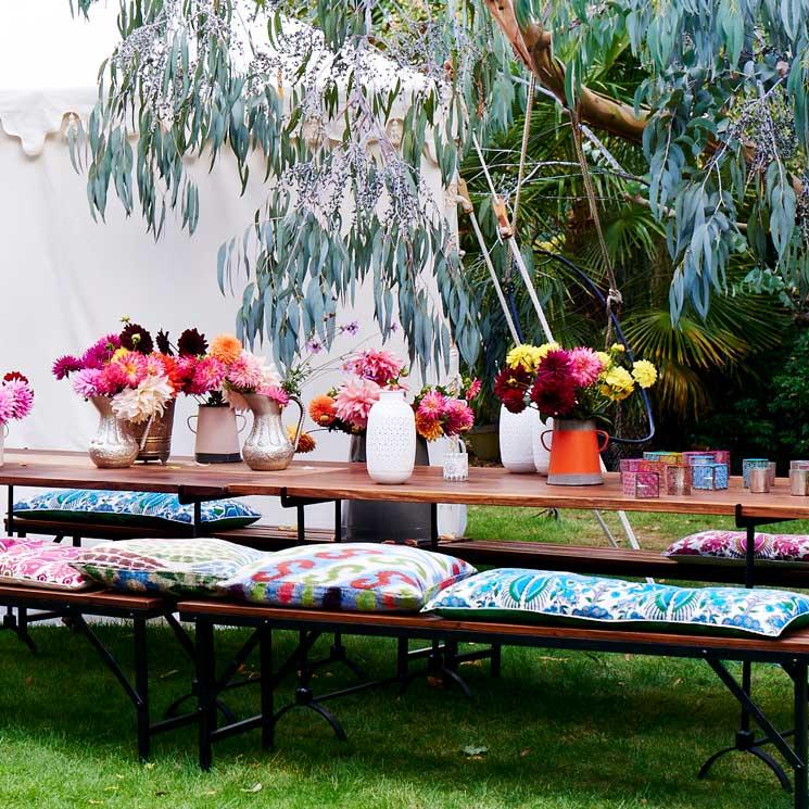 C mo montar tus fiestas de temporada en el exterior foto for Jardin al aire libre de madera deco