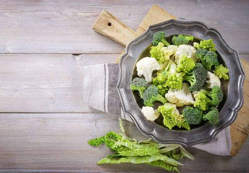 brócoli y otras verduras