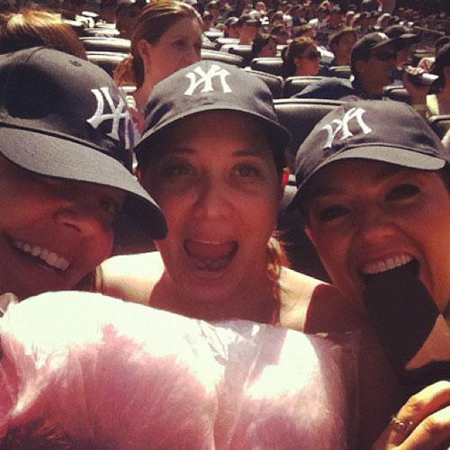Thalia, en el partido de los Yankees