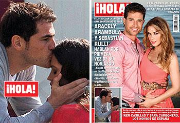 En ¡HOLA!: Iker Casillas y Sara Carbonero, los novios de España