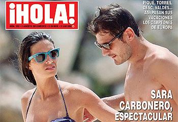 En ¡HOLA!: Sara Carbonero, espectacular junto a Iker Casillas en las playas del Caribe