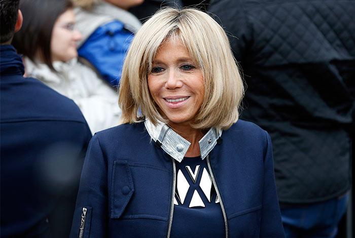 Madame Brigitte Trogneux, esposa de Macron, la nueva Primera Dama de Francia