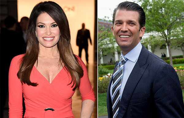 Kimberly Guilfoyle y Donald Trump Jr.