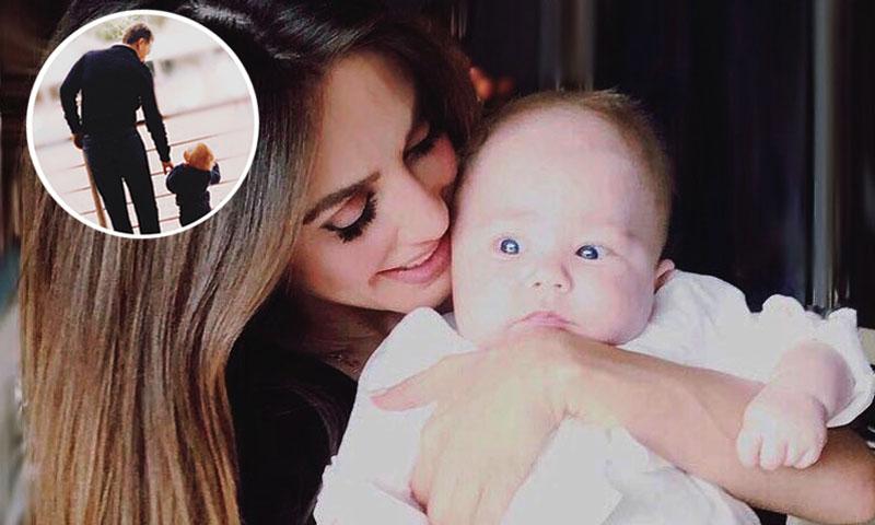 Resultado de imagen para Fotos de Anahí con su hijo Manuelito