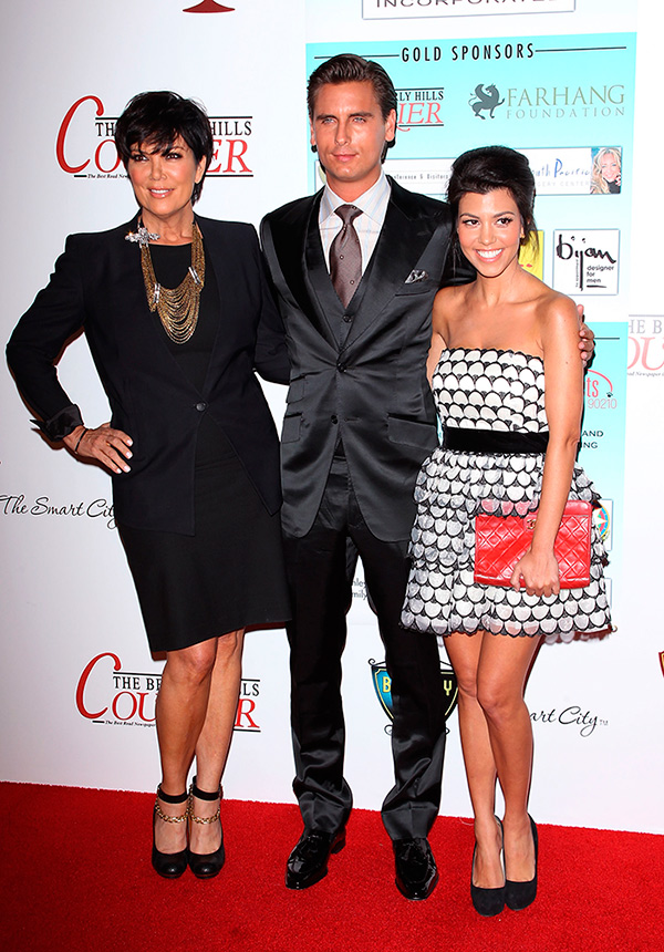 Kris, Scott y Kourtney