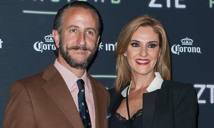 Chantal Andere y su esposo