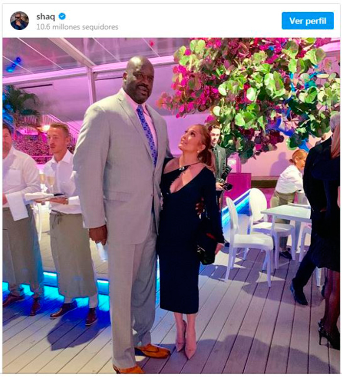 Shaquille O'Neal y Jennifer Lopez