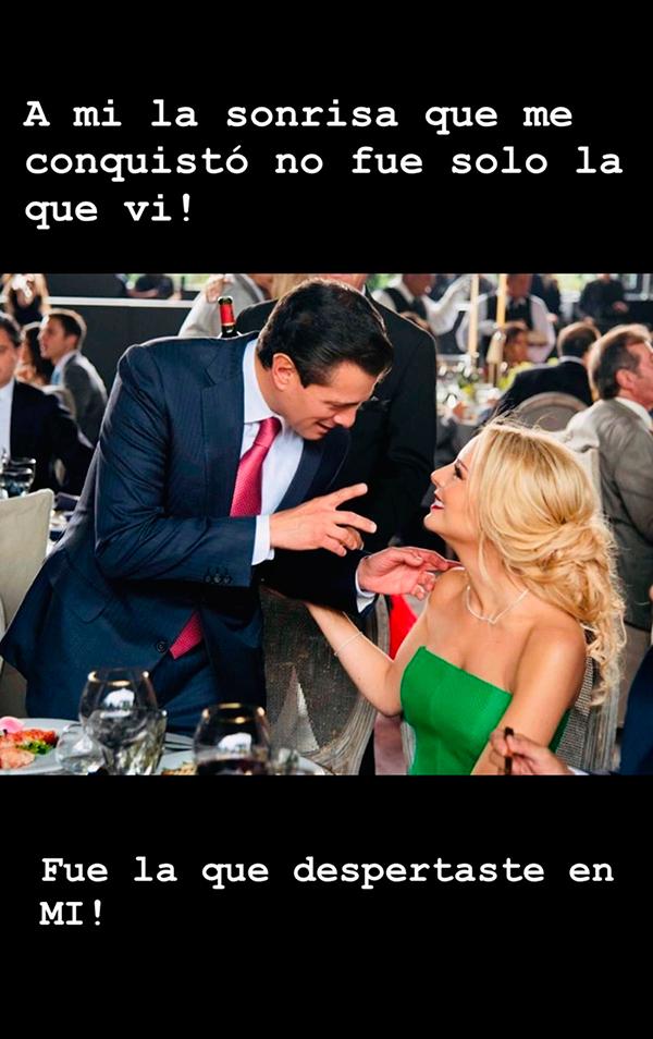 Peña Nieto y Tania Ruiz