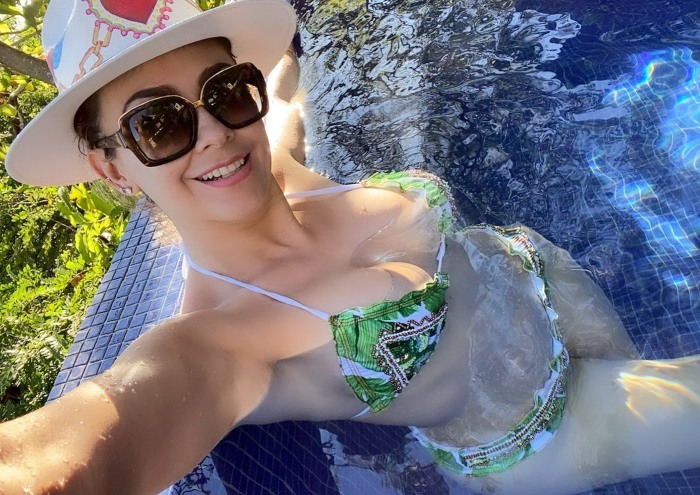 Aracely Arámbula from her home in Acapulco