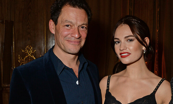Lily James y Dominic West