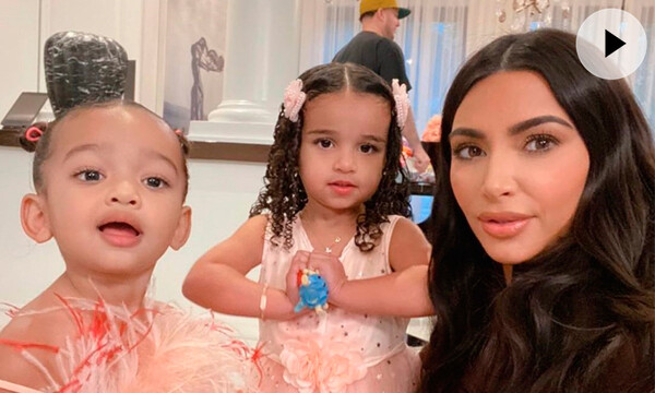Chicago West, Dream y Kim Kardashian