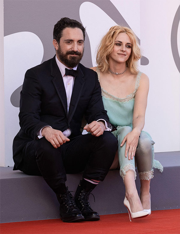 Kristen Stewart and Pablo Larraín