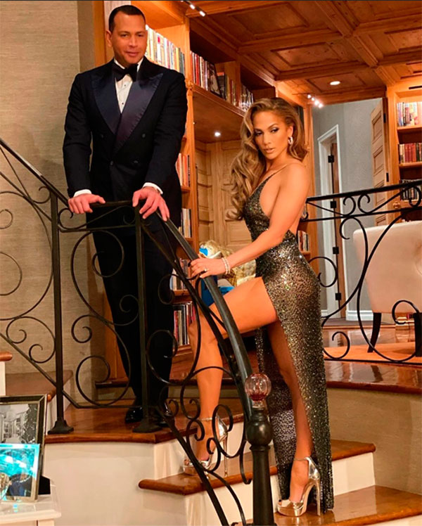 Jlo y Arod after party Oscars