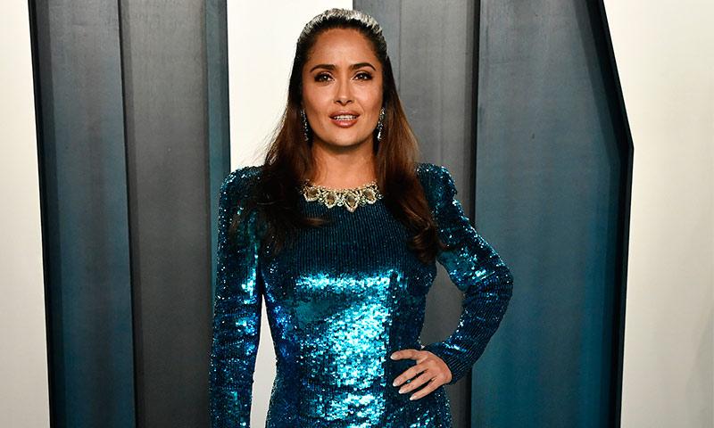 Oscars 2020: Salma Hayek bajó del Olimpo para su segundo look de la noche - Foto 1