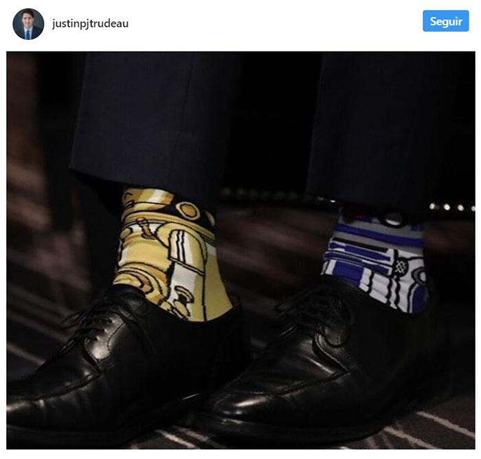La colorida -y muy divertida- colección de calcetines de Justin Trudeau