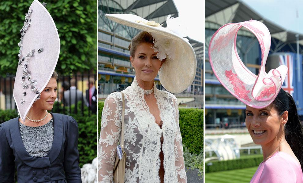 4b1912c263d97 Las formas más excéntricas se hicieron presentes en los sombreros que  portaron las elegantes asistentes. Encaje