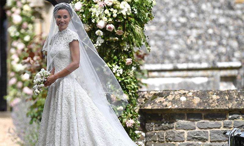 el espectacular vestido de novia de pippa middleton