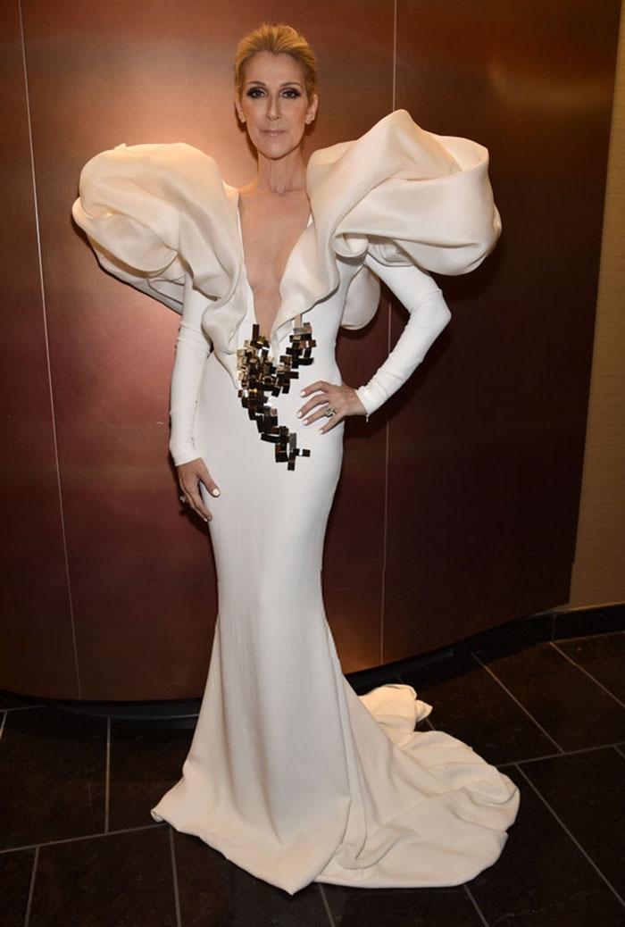 ¿Como un iceberg? El vestido de Céline Dion del que todo el mundo habla