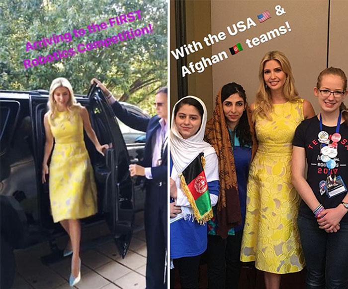 La Duquesa de Cambridge se inspira en el vestido amarillo de Ivanka Trump