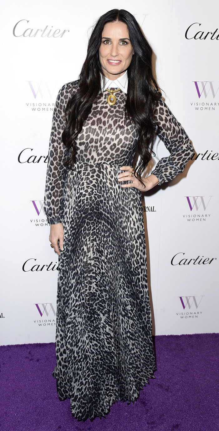 Demi Moore en animal print
