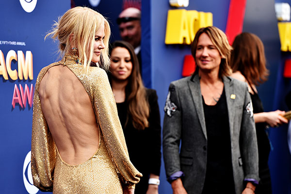 Nicole Kidman y Keith Urban en los ACM Awards